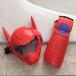 Baymax Big Hero 6 mask and shooting fist